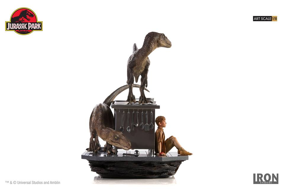 [Iron Studios] Jurassic Park- Velociraptors in the Kitchen Diorama Art Scale 1/10  42681310