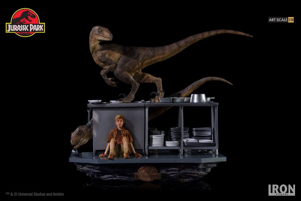 [Iron Studios] Jurassic Park- Velociraptors in the Kitchen Diorama Art Scale 1/10  42719810