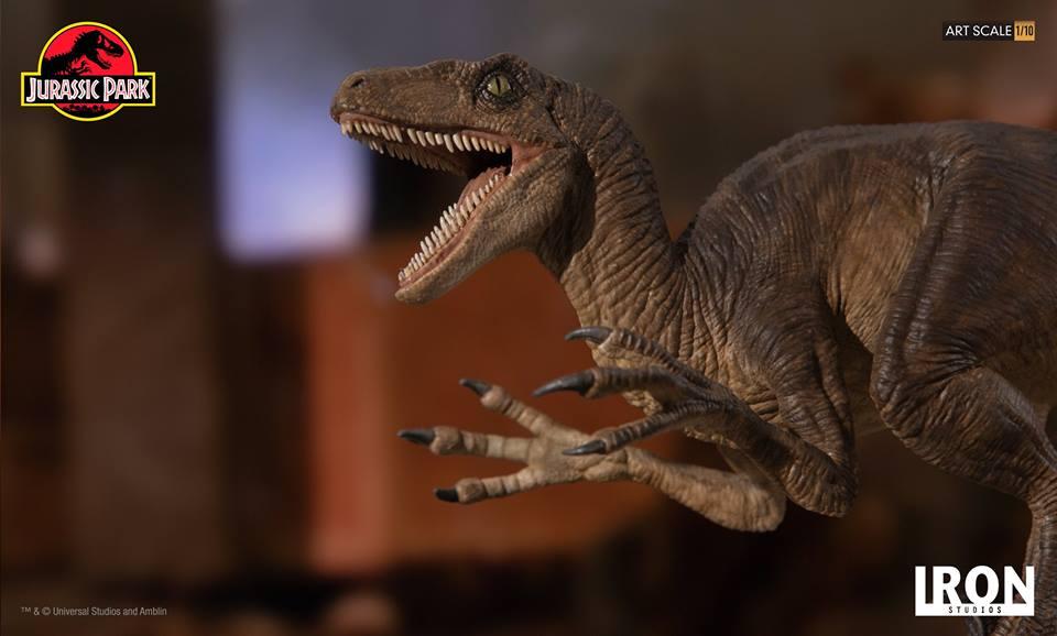 [Iron Studios] - Jurassic Park- Velociraptor Attack 1/10 42721210