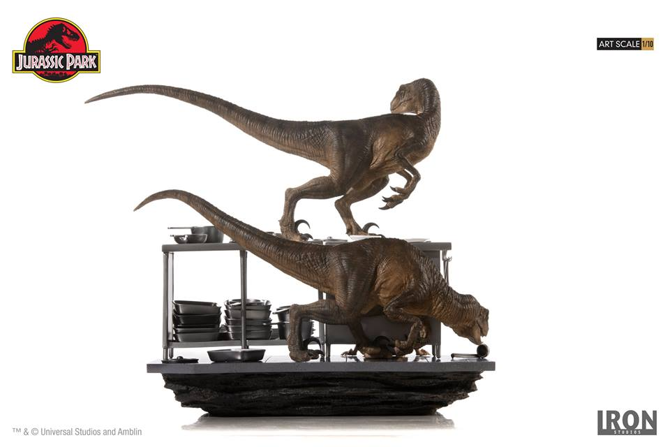 [Iron Studios] Jurassic Park- Velociraptors in the Kitchen Diorama Art Scale 1/10  42741110