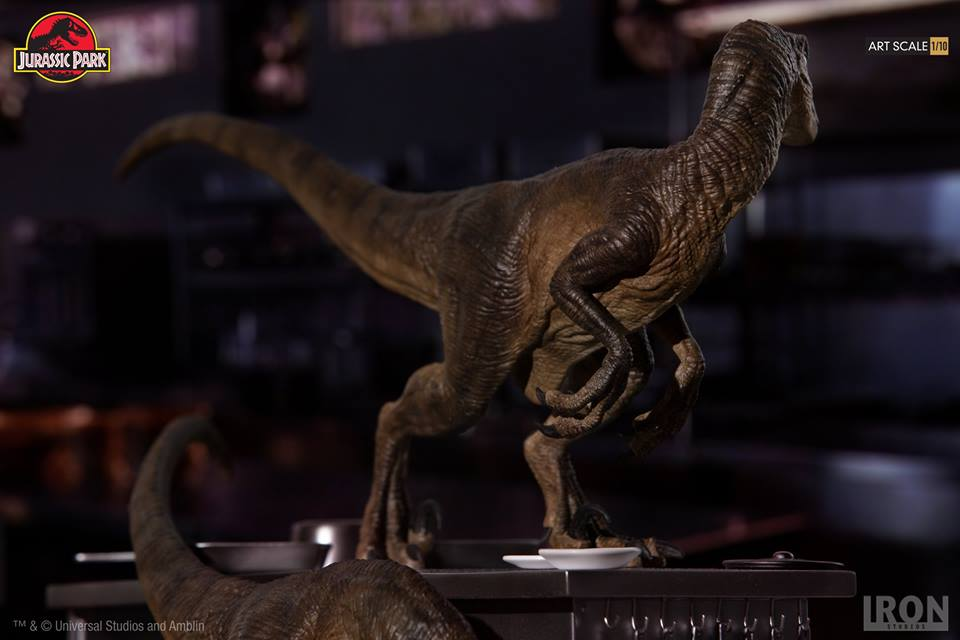 [Iron Studios] Jurassic Park- Velociraptors in the Kitchen Diorama Art Scale 1/10  42790910