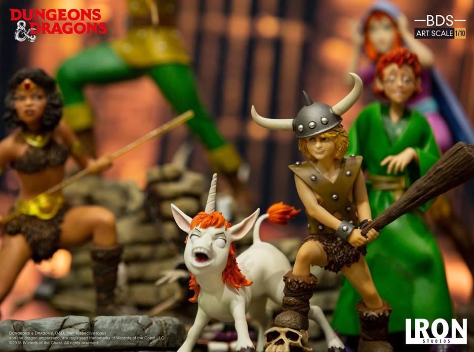[Iron Studios] - Dungeons & Dragons - Bob, o bárbaro e Uni 1/10 43620110