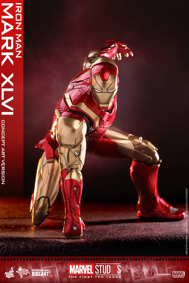 [Hot Toys]- Marvel Studios: The first 10 years- Mark XLVI (concept version) 44107610