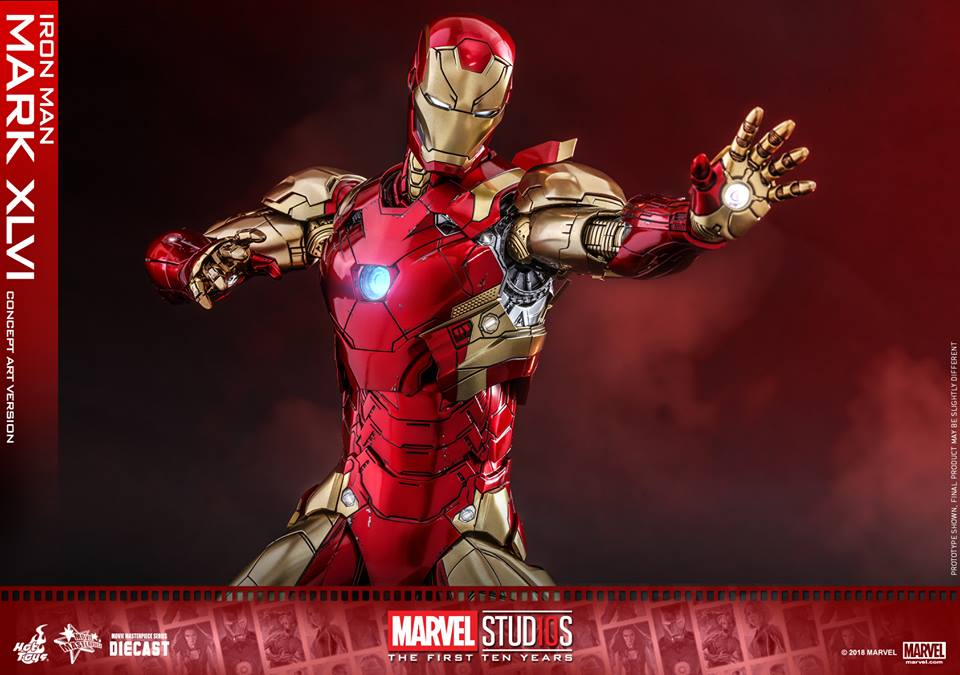 [Hot Toys]- Marvel Studios: The first 10 years- Mark XLVI (concept version) 44176710