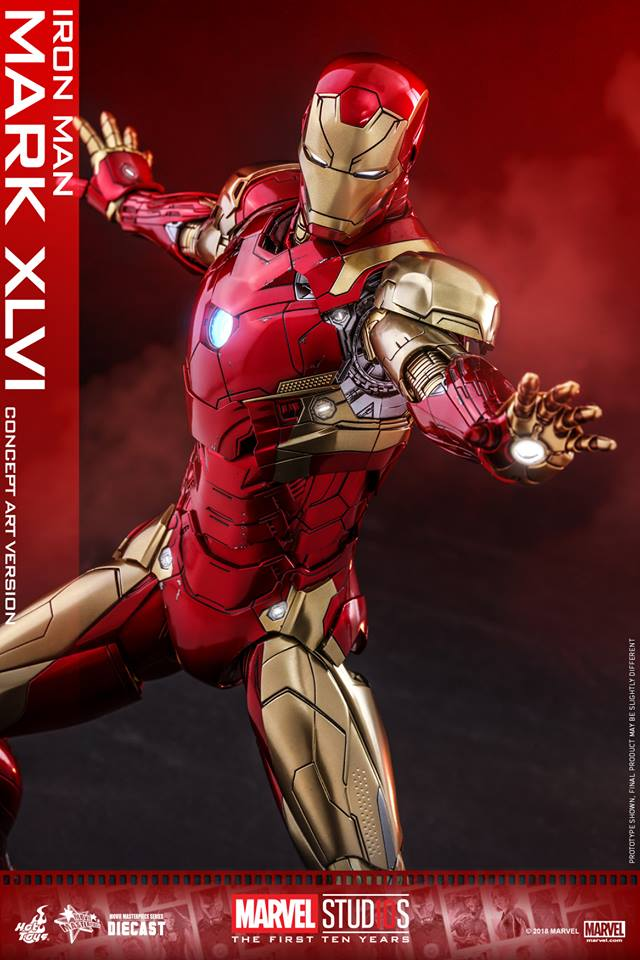 [Hot Toys]- Marvel Studios: The first 10 years- Mark XLVI (concept version) 44178710