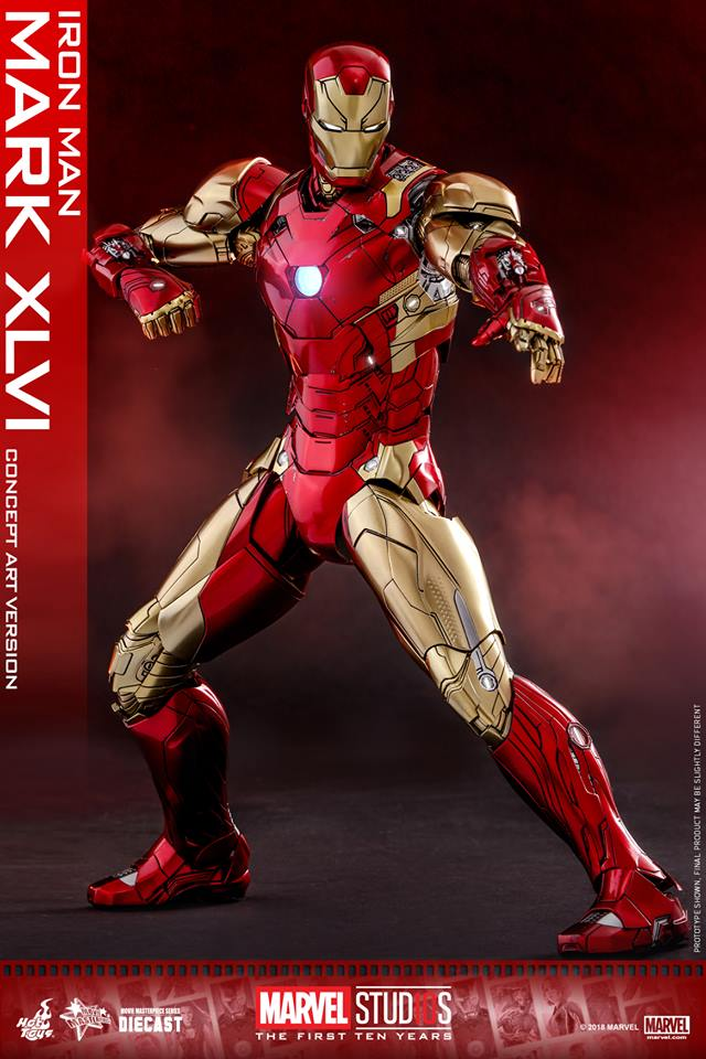 [Hot Toys]- Marvel Studios: The first 10 years- Mark XLVI (concept version) 44190210