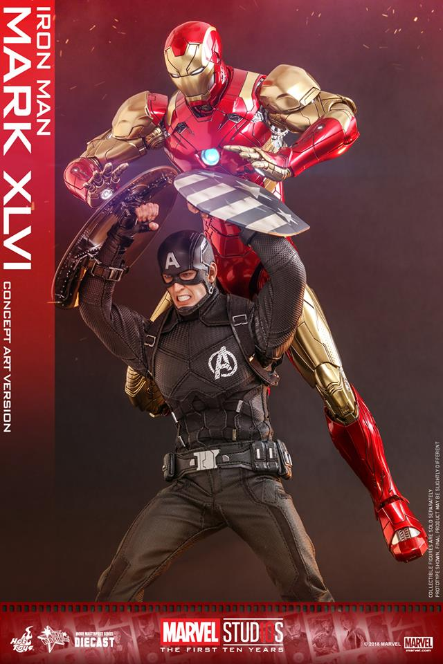 [Hot Toys]- Marvel Studios: The first 10 years- Mark XLVI (concept version) 44197010