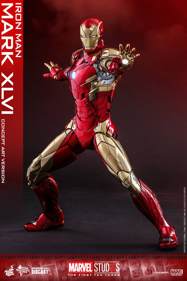 [Hot Toys]- Marvel Studios: The first 10 years- Mark XLVI (concept version) 44199710