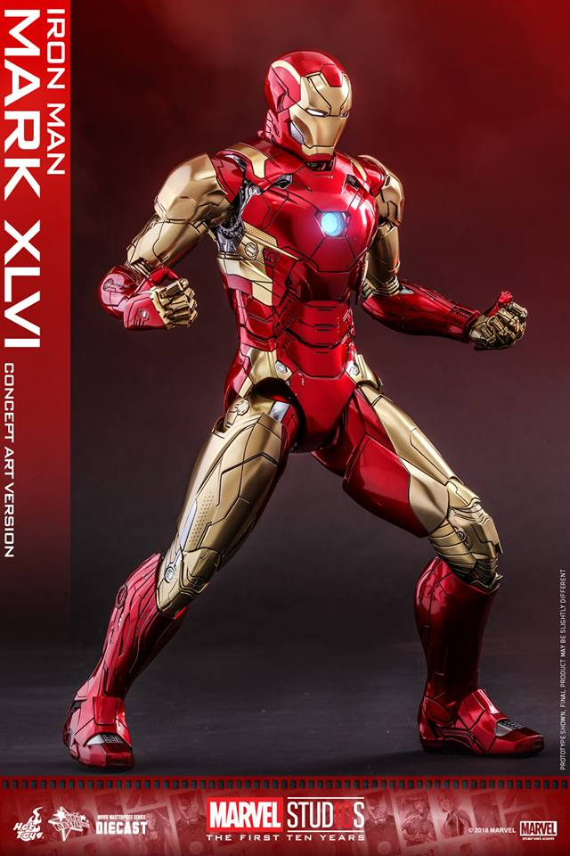 [Hot Toys]- Marvel Studios: The first 10 years- Mark XLVI (concept version) 44213211