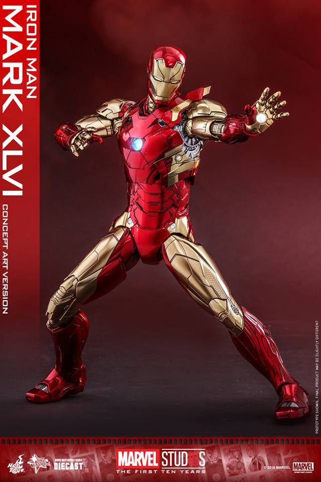 [Hot Toys]- Marvel Studios: The first 10 years- Mark XLVI (concept version) 44213810