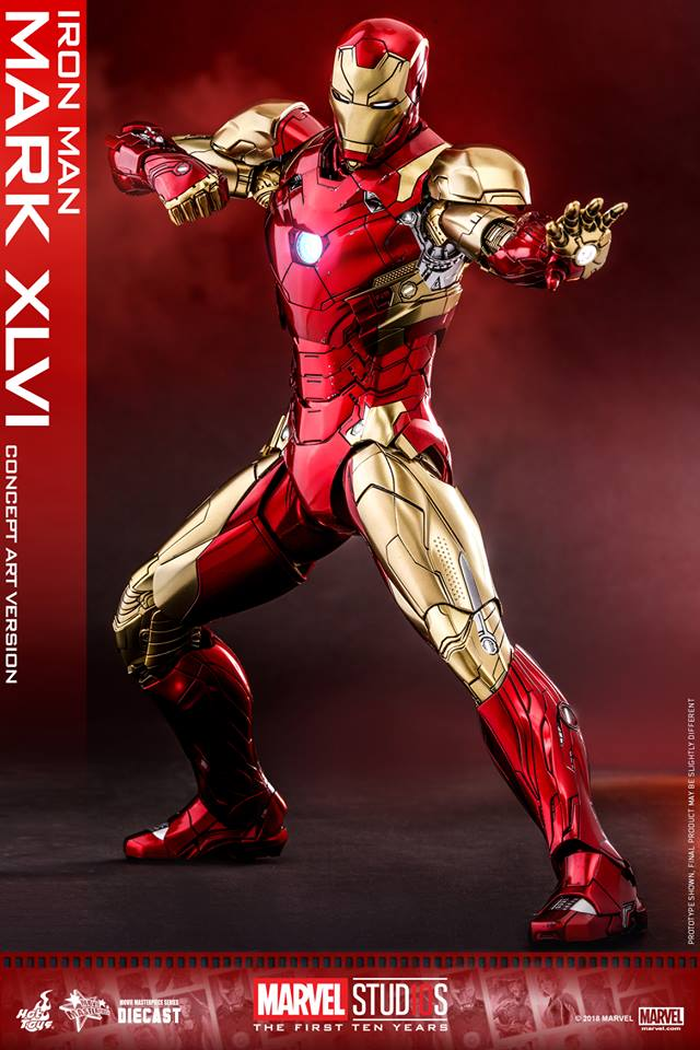 [Hot Toys]- Marvel Studios: The first 10 years- Mark XLVI (concept version) 44245510