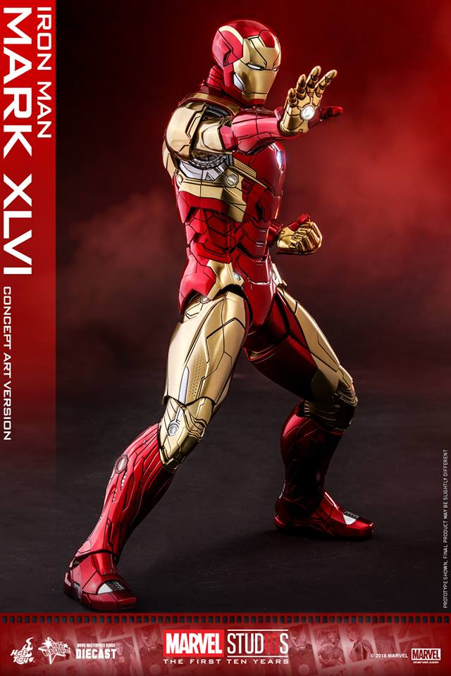 [Hot Toys]- Marvel Studios: The first 10 years- Mark XLVI (concept version) 44252410