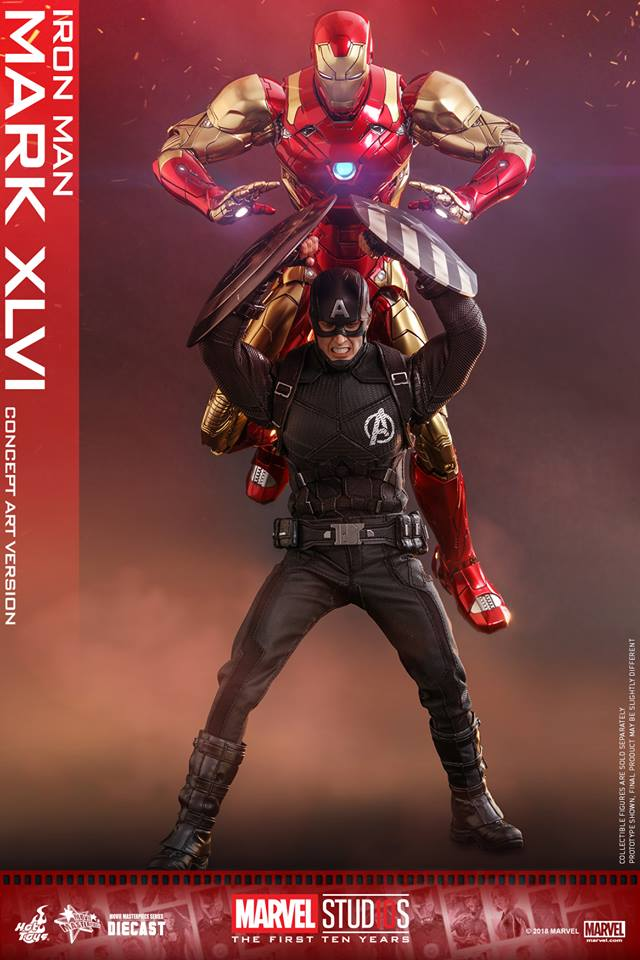 [Hot Toys]- Marvel Studios: The first 10 years- Mark XLVI (concept version) 44252411