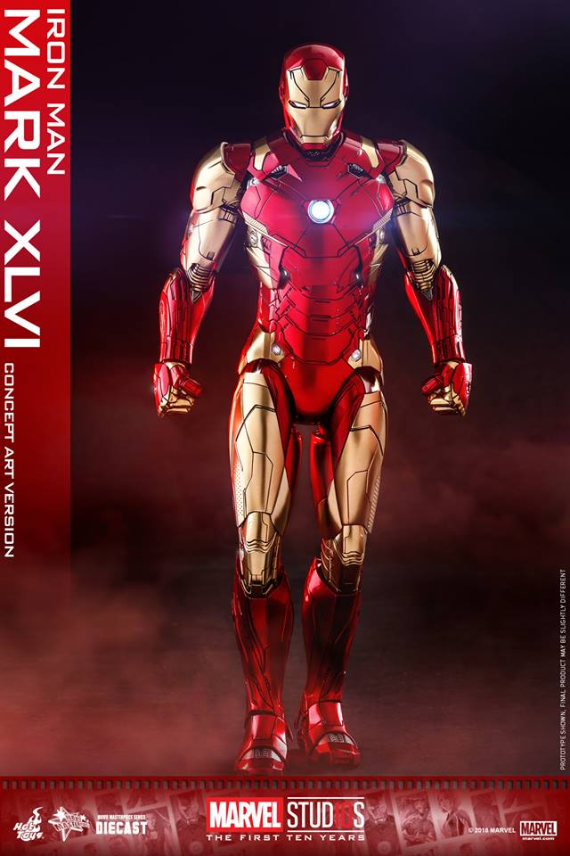[Hot Toys]- Marvel Studios: The first 10 years- Mark XLVI (concept version) 44263610