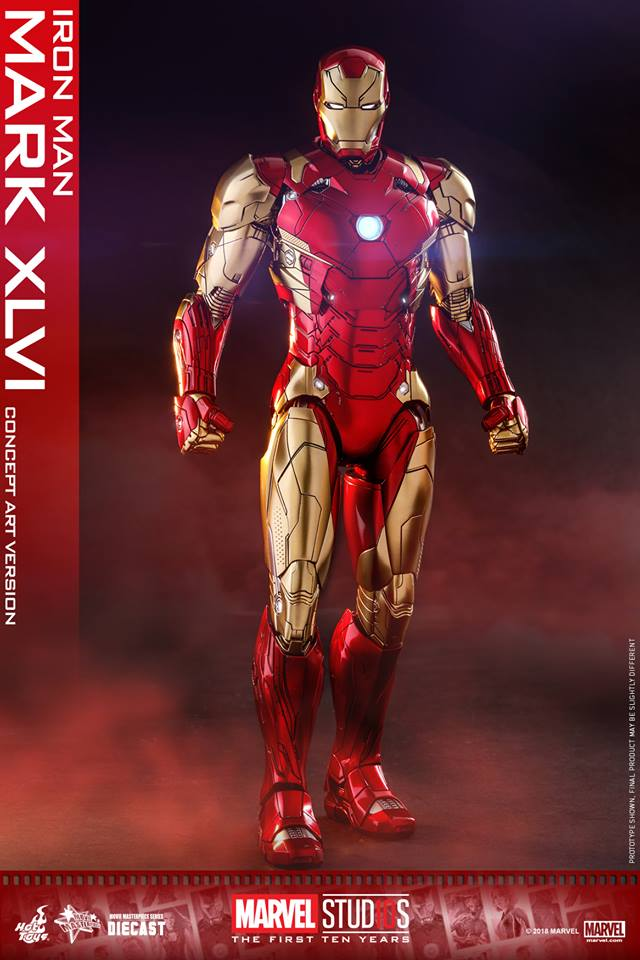 [Hot Toys]- Marvel Studios: The first 10 years- Mark XLVI (concept version) 44265511