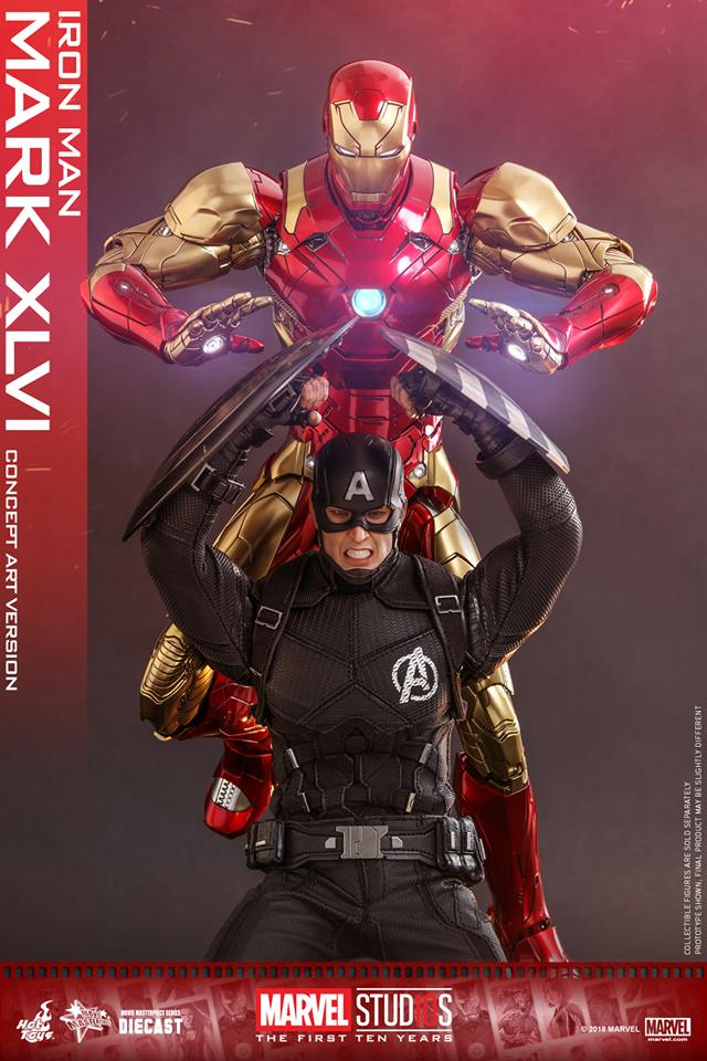 [Hot Toys]- Marvel Studios: The first 10 years- Mark XLVI (concept version) 44294010