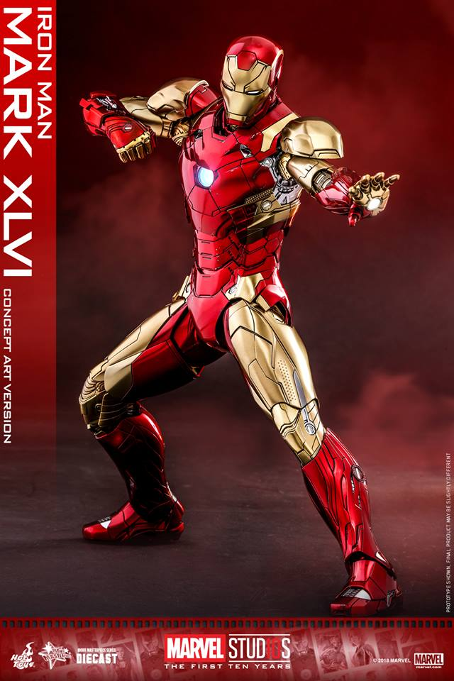 [Hot Toys]- Marvel Studios: The first 10 years- Mark XLVI (concept version) 44339210