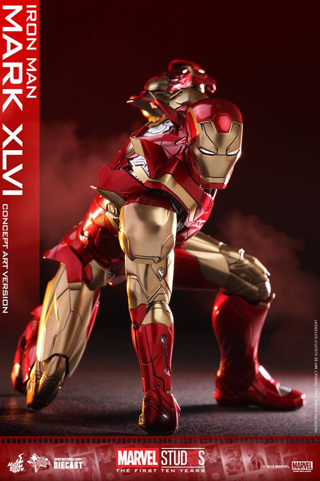[Hot Toys]- Marvel Studios: The first 10 years- Mark XLVI (concept version) 44370410