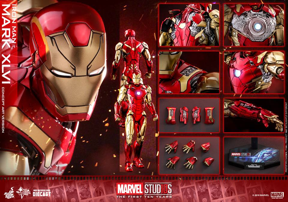 [Hot Toys]- Marvel Studios: The first 10 years- Mark XLVI (concept version) 44393510