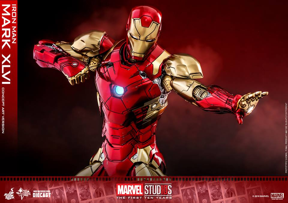 [Hot Toys]- Marvel Studios: The first 10 years- Mark XLVI (concept version) 44444410