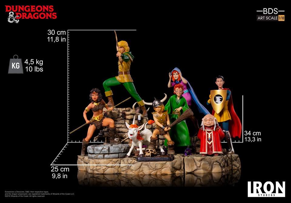 [Iron Studios] - Dungeons & Dragons - Bob, o bárbaro e Uni 1/10 44852210