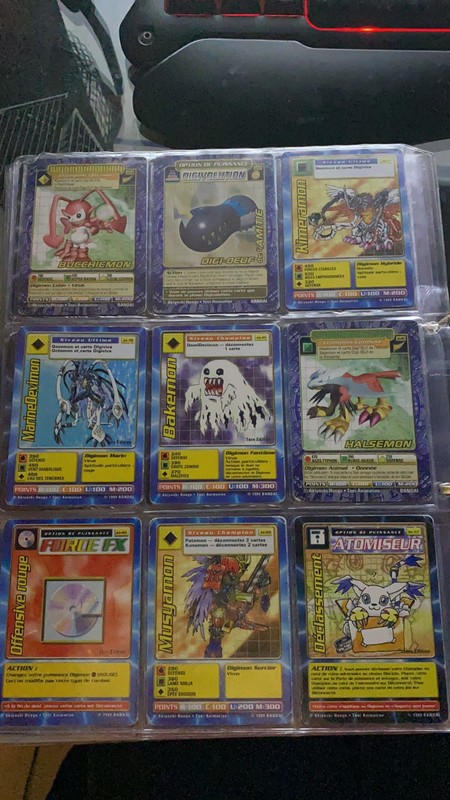 [EST] Lot de 129 carte digimon 1999 01_01e12