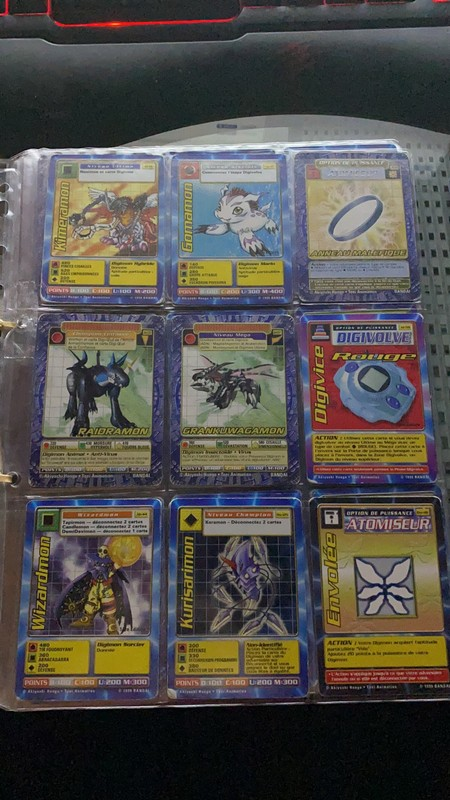 [EST] Lot de 129 carte digimon 1999 01_02610