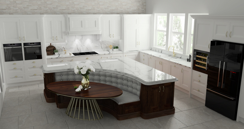 Curved Centre Island Kitche25