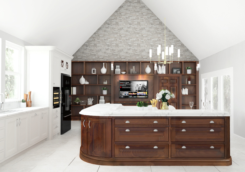 Curved Centre Island Kitche27