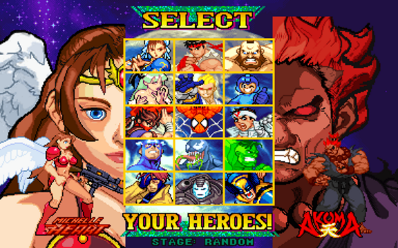 MARVEL VS CAPCOM 1 - Another heroes project - MFG