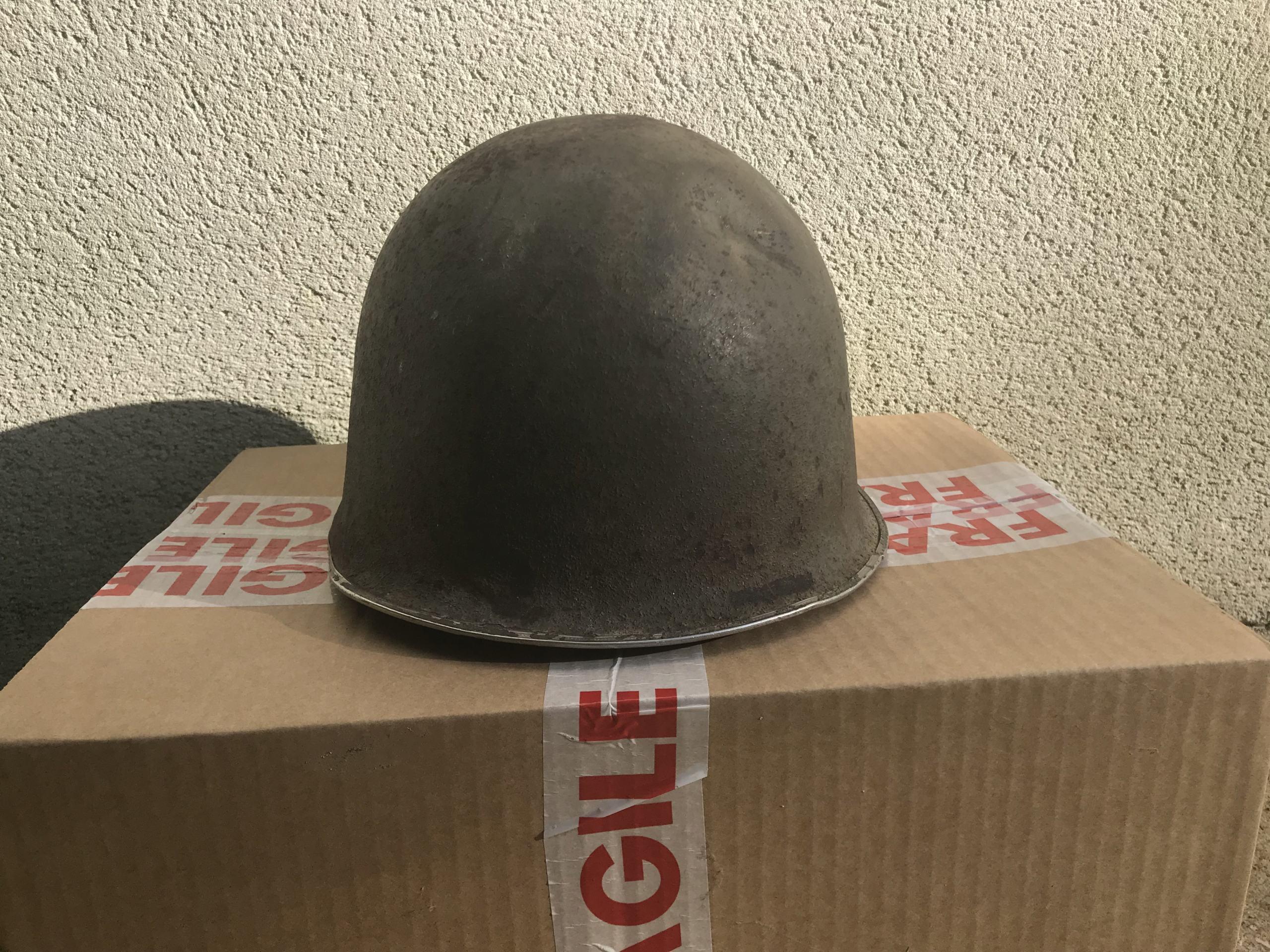 identifiation d'une bombe casque M1 américain ou TTA51 français Img_1611