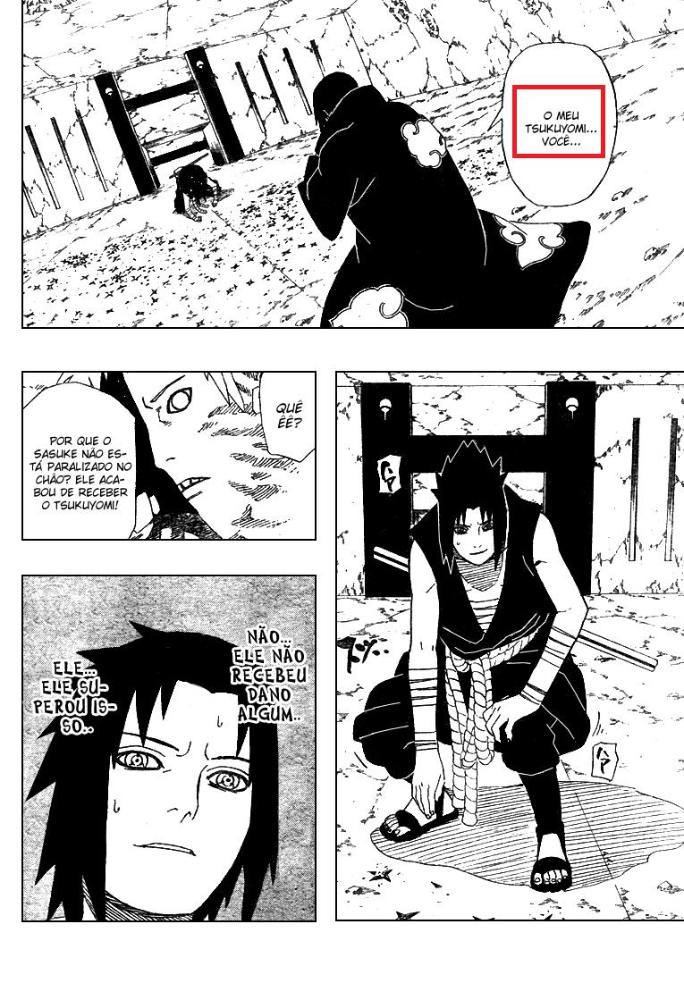 Como exatamente Sasuke quebrou o Tsukuyomi do itachi? 1412