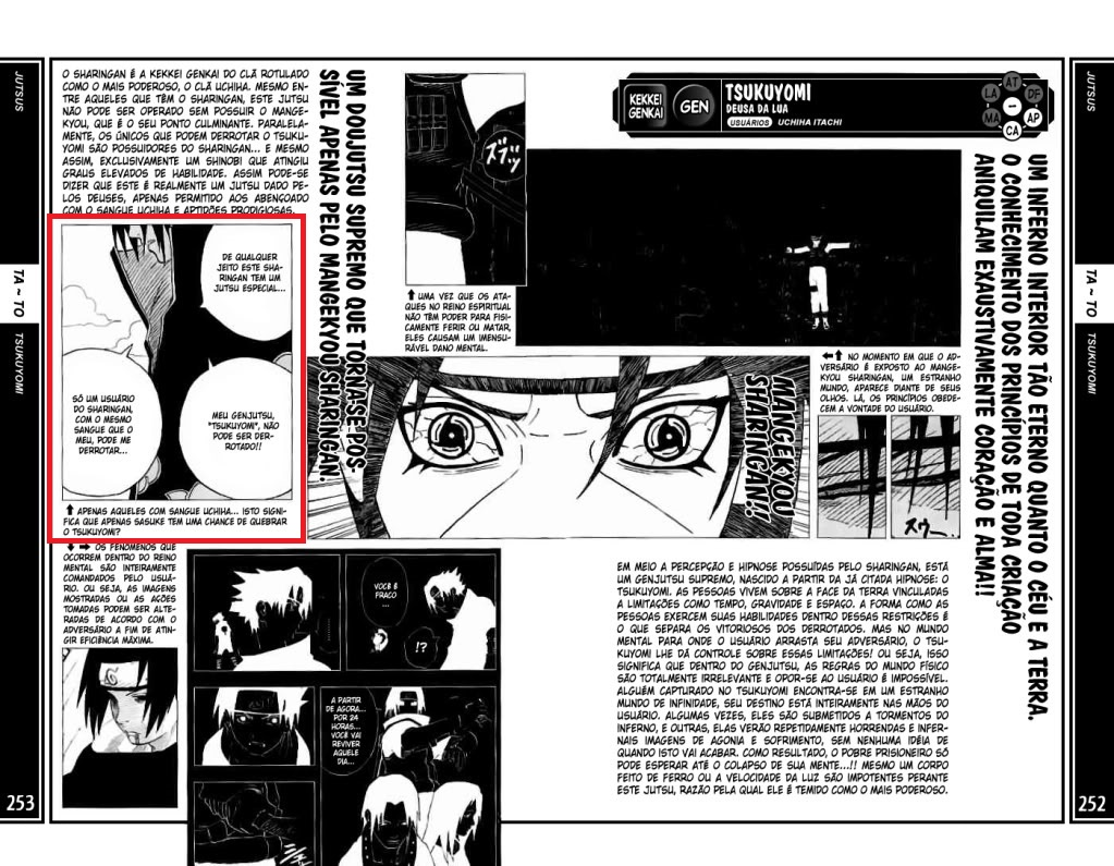 Como exatamente Sasuke quebrou o Tsukuyomi do itachi? 252-2511