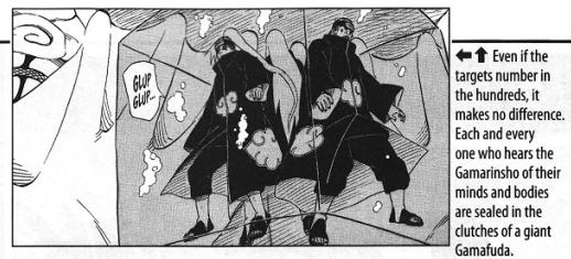 Gamarinshou, entenda o verdadeiro poder da ilusão demoníaca dos Sapos. - Página 2 Naruto23