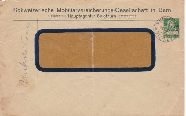 Private Ganzsachenumschläge - Wertstempel Tellkopf Ch-ga_14