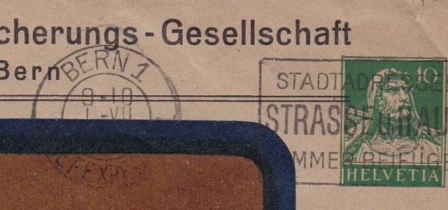 Private Ganzsachenumschläge - Wertstempel Tellkopf Ch_ga_13