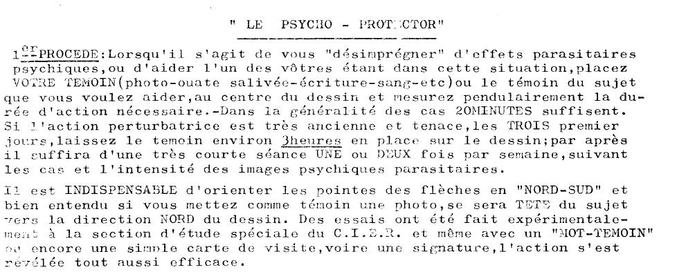 Graphique de protection psychique Psycho10