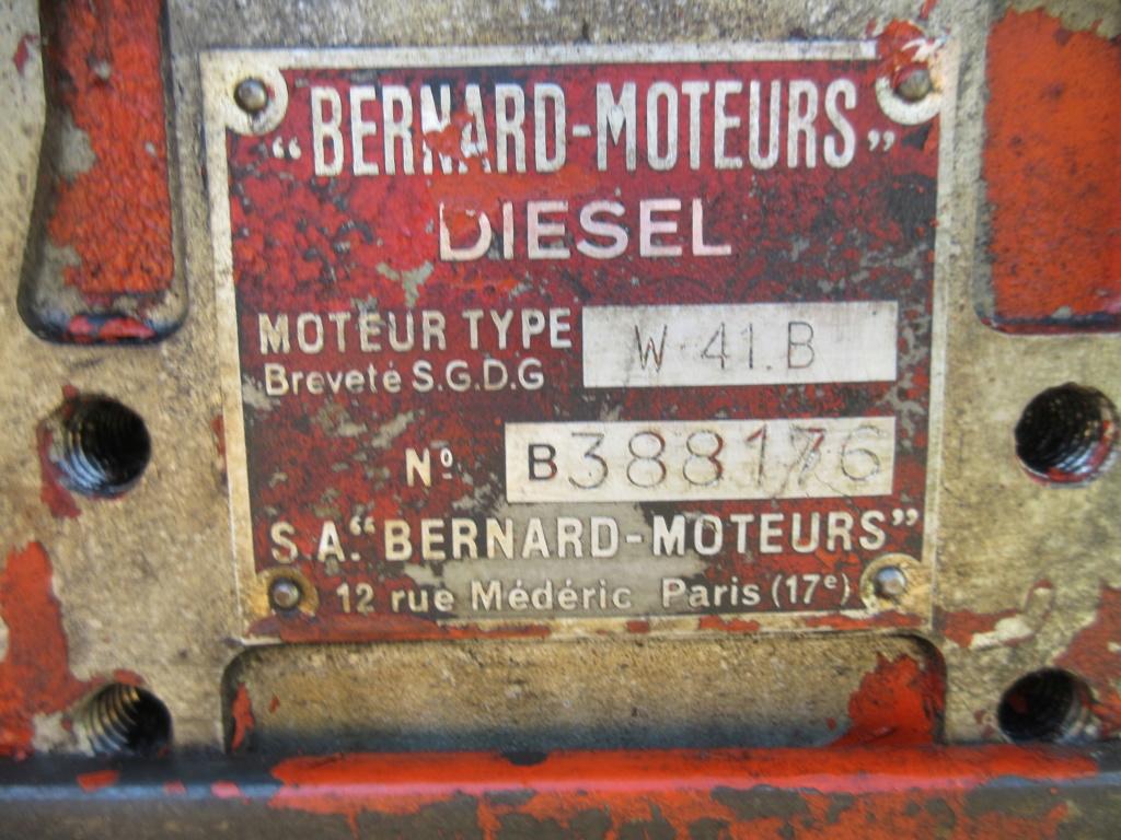 moteur - VENDU - Moteur Bernard Diesel W41B Img_3716