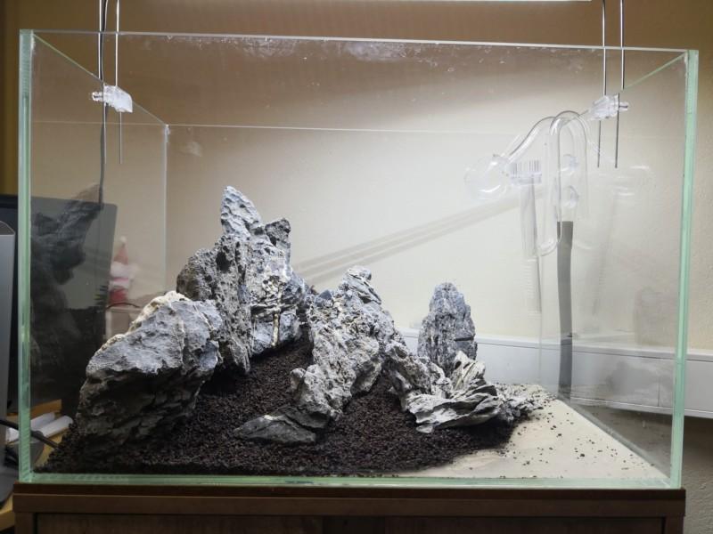 Préparation d'un mountain scape / iwagumi 20190310