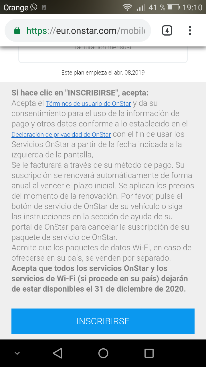 Demanda colectiva a Opel? OnStar se desactivará a partir del 1 de Enero de 2021 - Página 10 Screen11