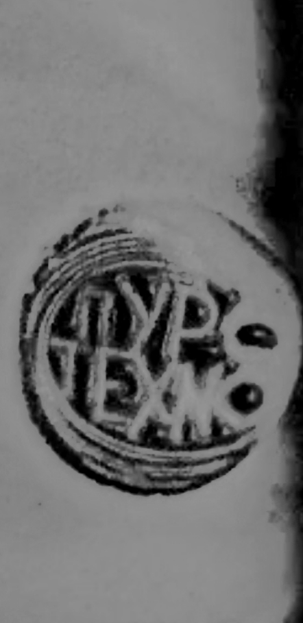Studio stamp, unique vase with opposing female busts 20191210