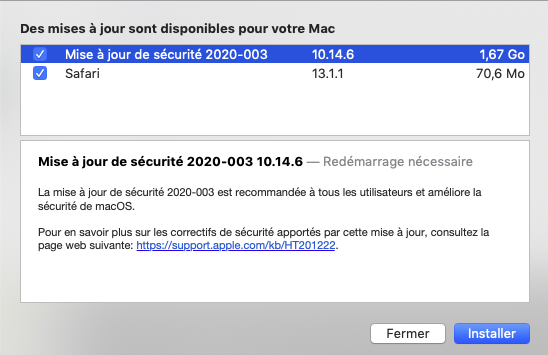 Mise a jour macOS Mojave 10.14.6 (18G5033) 10_14_10