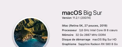 Mise a jour macOS Big Sur 11.2.1 (20D74) 11_2_110