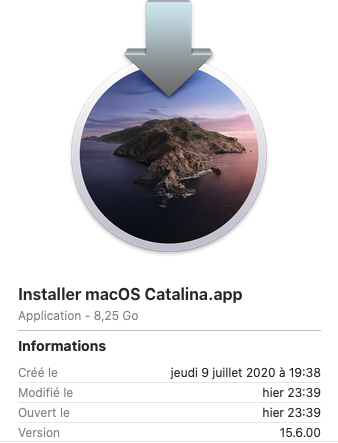 Mise a jour macOS Catalina 10.15.6 (19G73) 15_610