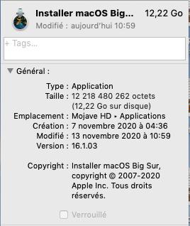 macOS Big Sur 11.0.1 (20B29) Finale version 1610310