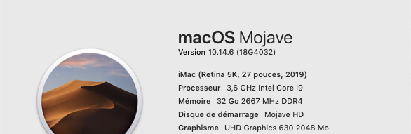 Mise a jour Mojave 10.14.6 (18G4032) 18g40311