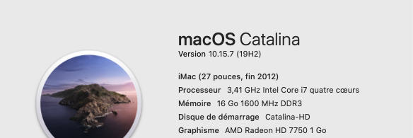 Mise a jour macOS Catalina 10.15.7 (19H2) 19h210