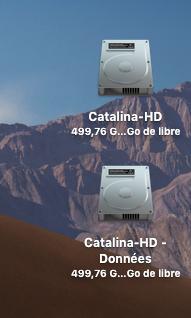"""Disque système """"dédoublé"""" Catali10"""
