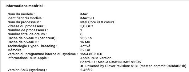 [RESOLU] BIG SUR / CLOVER R5130 X64 exception / écran rouge  Clover13