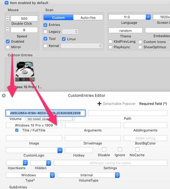 Cacher aprtitions windows dans le Clover boot menu Custom10
